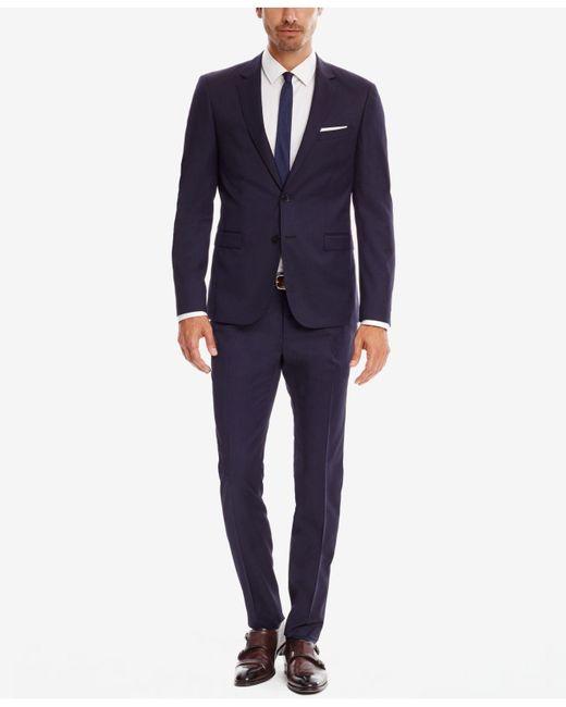 8bc38f7e ... BOSS - Blue Men's Extra-slim-fit Super 120 Italian Virgin Wool Sport  Coat