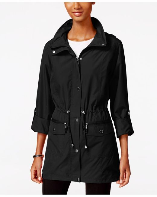 Style & Co. - Black Tunic-length Anorak Jacket - Lyst