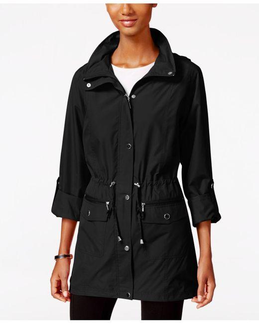 Style & Co.   Black Tunic-length Anorak Jacket   Lyst