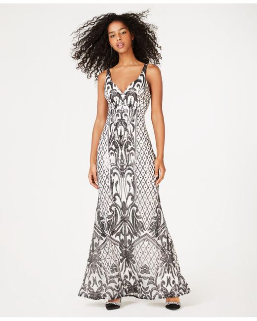 Lyst Sequin Hearts Juniors Printed Sequin Mermaid Gown Created