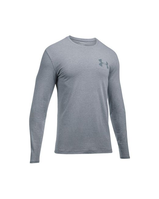Under Armour | Gray Men's Charged Cotton® Long-sleeve T-shirt for Men | Lyst