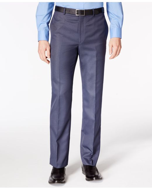 Calvin klein men 39 s neat slim fit stretch dress pants in for Calvin klein slim fit stretch shirt
