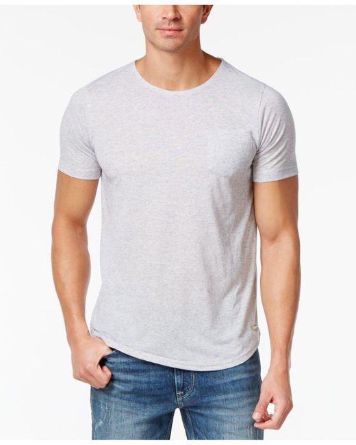 Sean John | Gray Men's Relax Cotton Pocket T-shirt for Men | Lyst