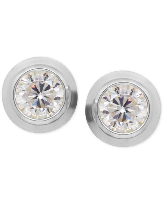 Macy's | Metallic Cubic Zirconia Bezel-set Stud Earrings In 14k Yellow, White Or Rose Gold | Lyst