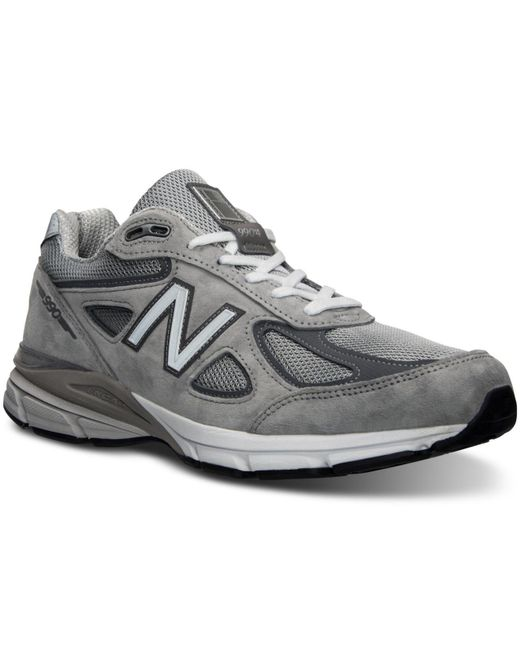 New Balance | Gray Men's 990v4 Running Sneakers From Finish Line for Men | Lyst