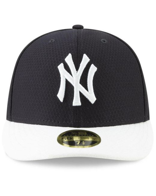 0c6edf2f67f ... KTZ - Blue New York Yankees Spring Training 59fifty-fitted Low Profile  Cap for Men ...