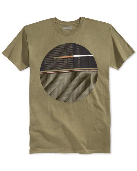 Sean john men 39 s oblique graphic print t shirt in green for for Sean john t shirts for mens