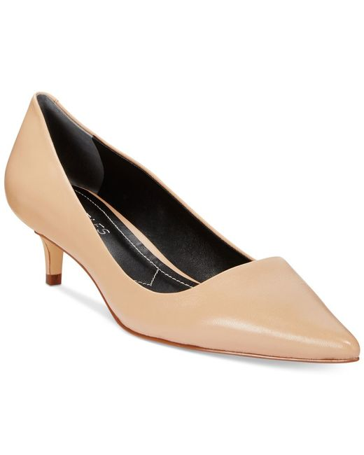 Charles by Charles David | Natural Drew Kitten-heel Pumps | Lyst