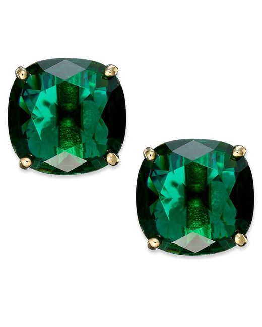 kate spade new york | Green Square Stud Earrings | Lyst