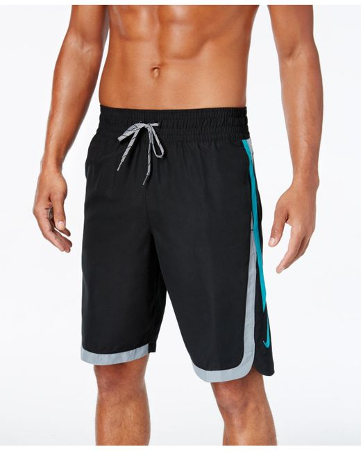 Nike men 39 s big and tall color surge beacon swim shorts in for Mens swim shirt big and tall