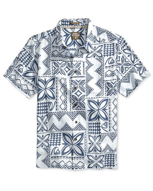 Quiksilver | White Waterman Men's Allover Printed Button-front Shirt for Men | Lyst