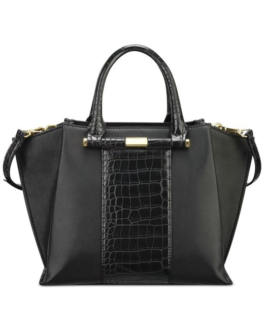 Nine west Divide And Conquer Large Satchel in Black