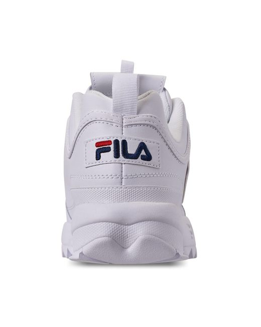 online retailer fd8df 8e600 ... Fila - Men s Disruptor Ii Premium Trainers, White Men s Shoes  (trainers) In White ...