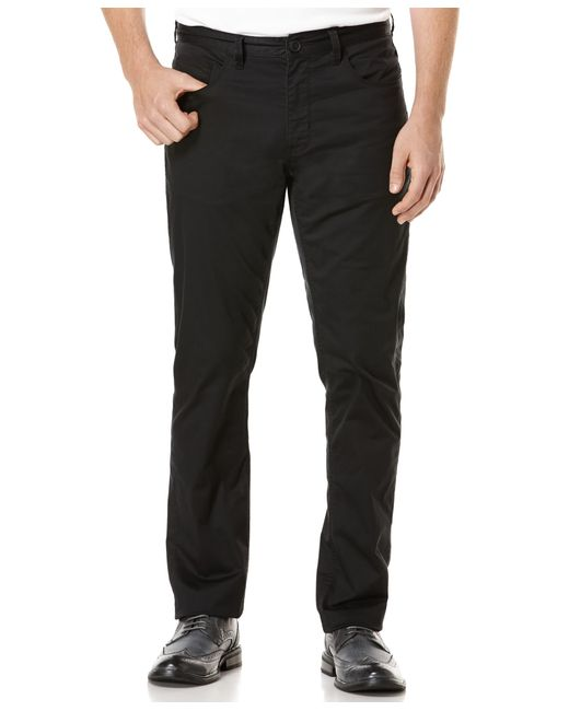 Perry Ellis | Black Men's Big And Tall Five-pocket Sateen Stretch Pants for Men | Lyst