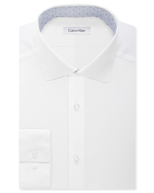 Calvin klein steel men 39 s non iron slim fit performance for Calvin klein athletic fit dress shirt