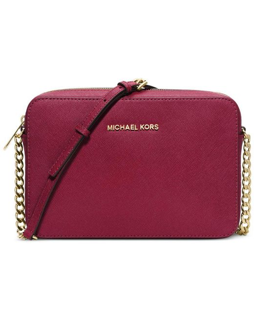 Michael Kors | Red Michael Jet Set Travel Large Crossbody | Lyst