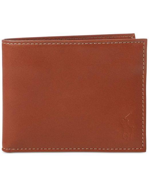 Polo Ralph Lauren - Brown Wallet, Burnished Passcase for Men - Lyst