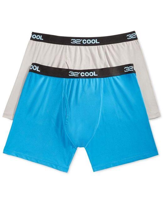 32 Degrees   Gray Cool Men's Boxer Briefs, 2 Pack for Men   Lyst