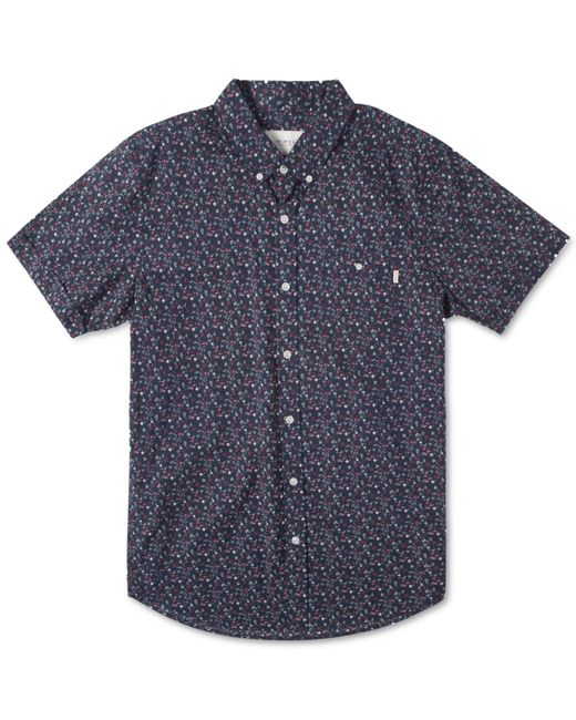 Rip Curl | Blue Mix Master Short Sleeve Shirt for Men | Lyst