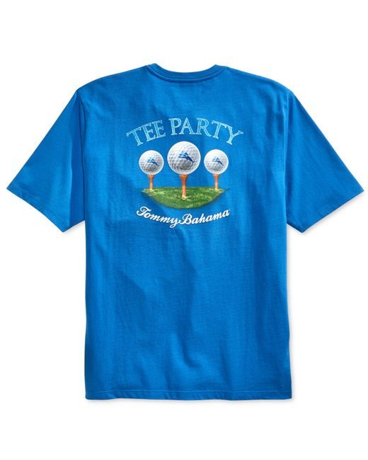 Tommy Bahama Men 39 S Tee Party Graphic Print T Shirt In Blue