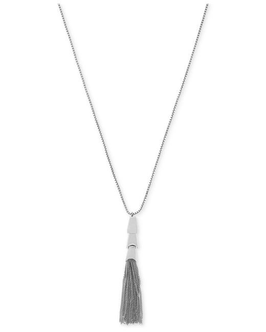 Vince Camuto | Metallic Silver-tone Long Length Tassel Pendant Necklace | Lyst