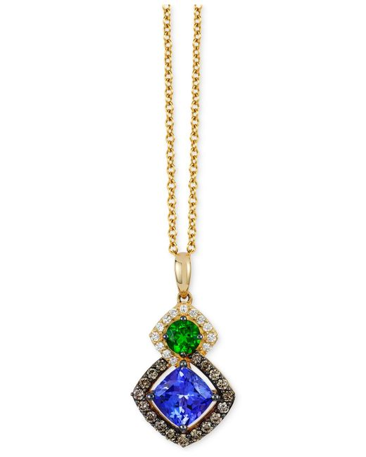 Le Vian | Metallic Chocolatier Neo Geo Multi-gemstone (1-1/5 Ct. T.w.) And Diamond (1/4 Ct. T.w.) Pendant Necklace In 14k Gold | Lyst