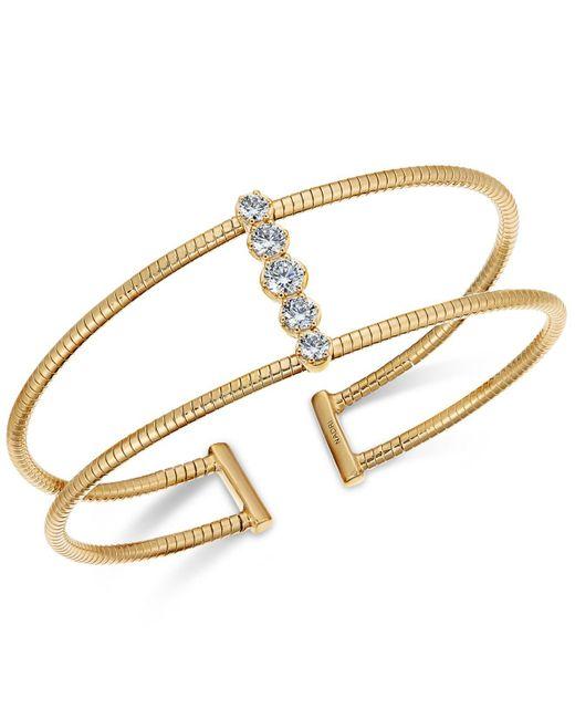 Danori - Metallic Crystal Pavé Open-style Flex Cuff Bracelet, Created For Macy's - Lyst