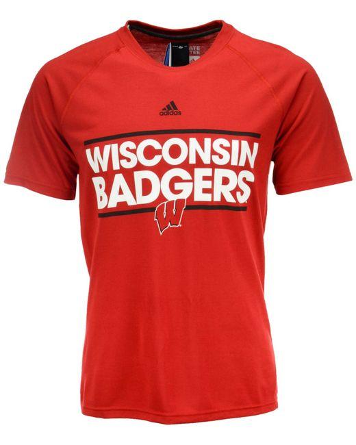 Adidas originals men 39 s wisconsin badgers dassler t shirt for Wisconsin badgers shirt women s