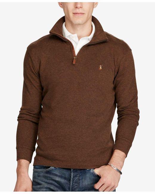 Polo Ralph Lauren | Brown Jacquard Estate-rib Pullover for Men | Lyst