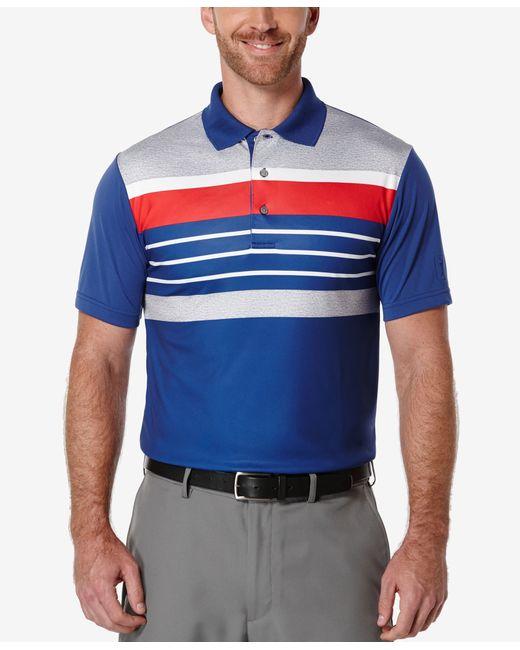 Pga Tour Men 39 S Big Tall Heathered Striped Golf Polo In