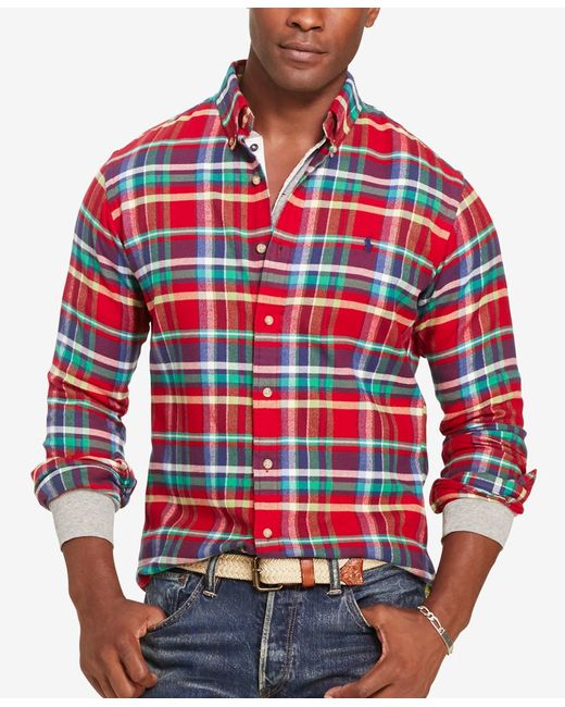 Polo Ralph Lauren | Red Plaid Twill Shirt for Men | Lyst