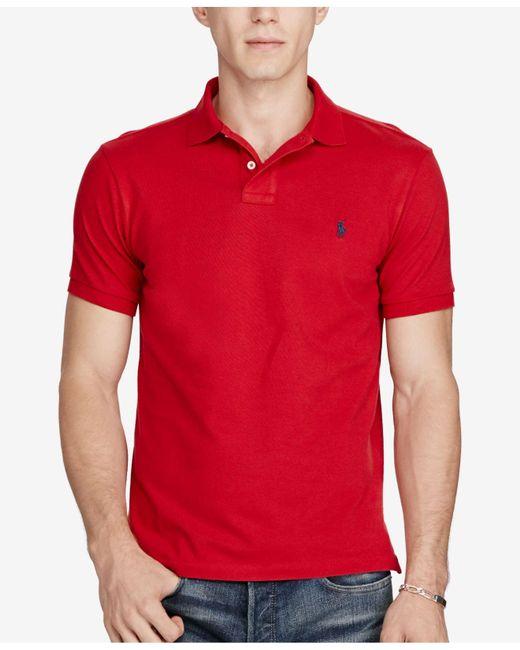 Polo Ralph Lauren | Red Mesh Polo Shirt for Men | Lyst