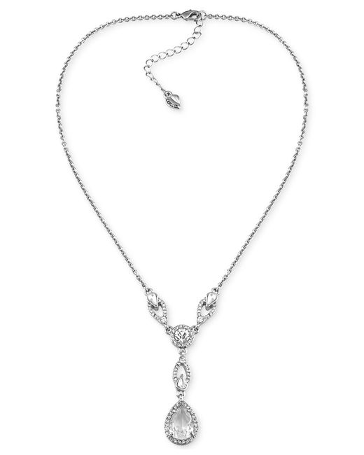 Carolee | Metallic Carnegie Hall Clear Crystal Frontal Drop Necklace | Lyst