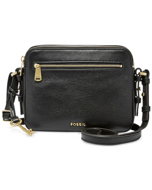 Fossil | Black Leather Piper Toaster Crossbody | Lyst