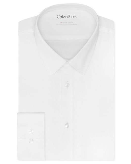 Calvin klein men 39 s x tall extra slim fit stretch solid for Mens tall dress shirts