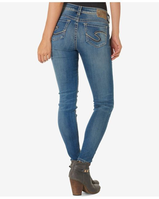 Silver Jeans Co. | Blue Suki Straight Stitched Pocket Jeans | Lyst
