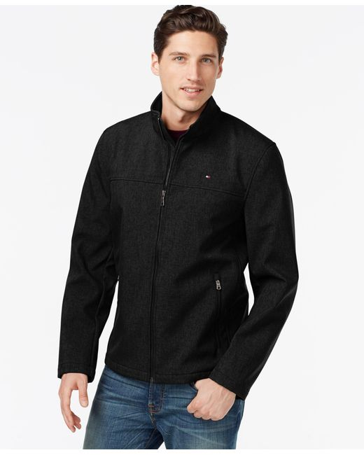 Tommy Hilfiger | Black Men's Big & Tall Classic Softshell Jacket for Men | Lyst