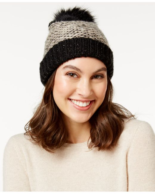 INC International Concepts | Black Skip Stitch Beanie, Only At Macy's | Lyst