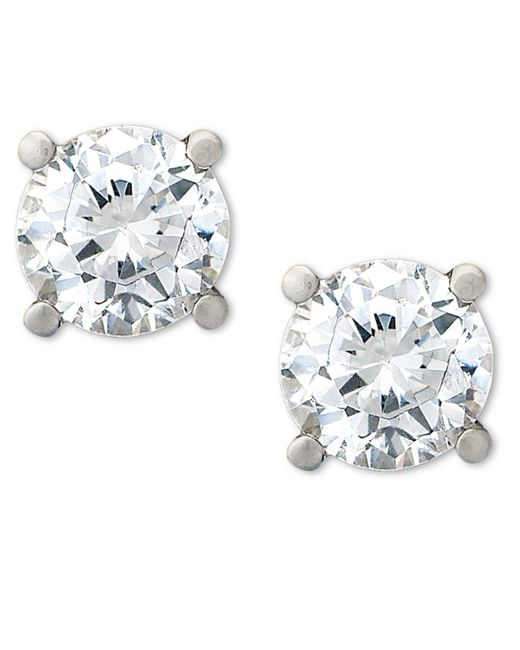 Macy's | White Certified Diamond Stud Earrings (1/2 Ct. T.w.) In Platinum | Lyst