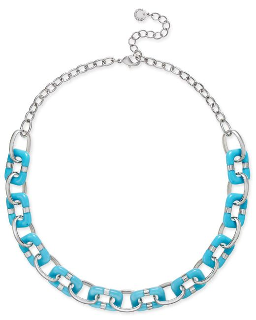 Charter Club   Metallic Resin Link Statement Necklace   Lyst