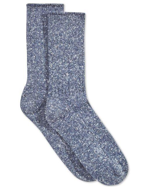 Hue | Blue Women's Tweed Ribbed Boot Socks | Lyst
