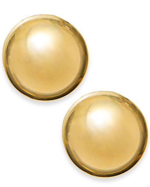 Macy's - Metallic 14k Gold Earrings, 12mm Domed Stud Earrings - Lyst