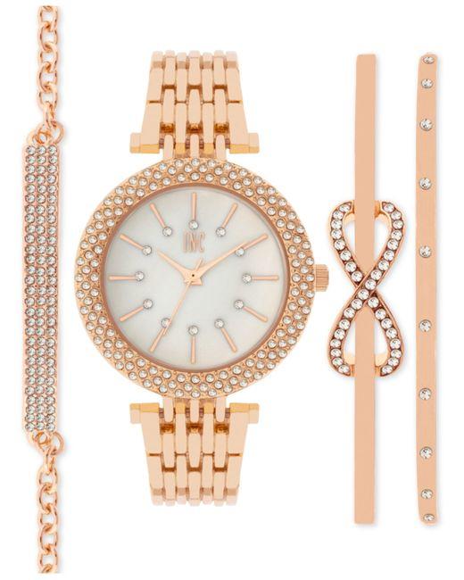 Inc international concepts Women s Rose Gold tone Bracelet Watch & Br