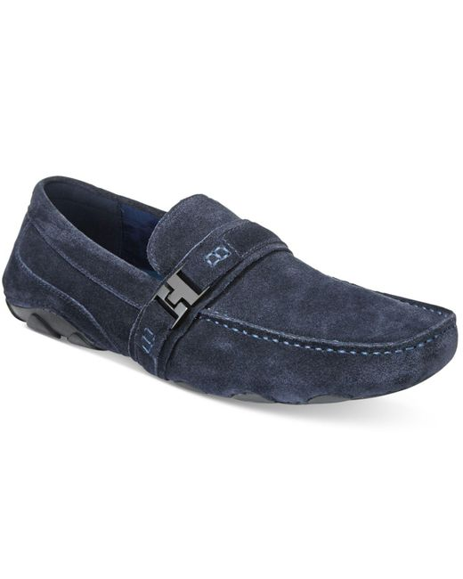 Kenneth Cole Reaction | Blue Men's Toast 2 Me Suede Drivers for Men | Lyst
