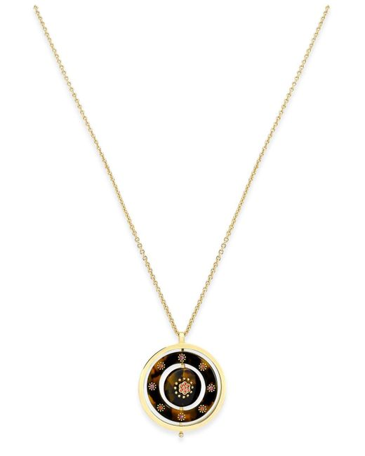 Kate Spade | Metallic Out Of Her Shell Gold-tone Tortoiseshell-look Spinner Necklace | Lyst