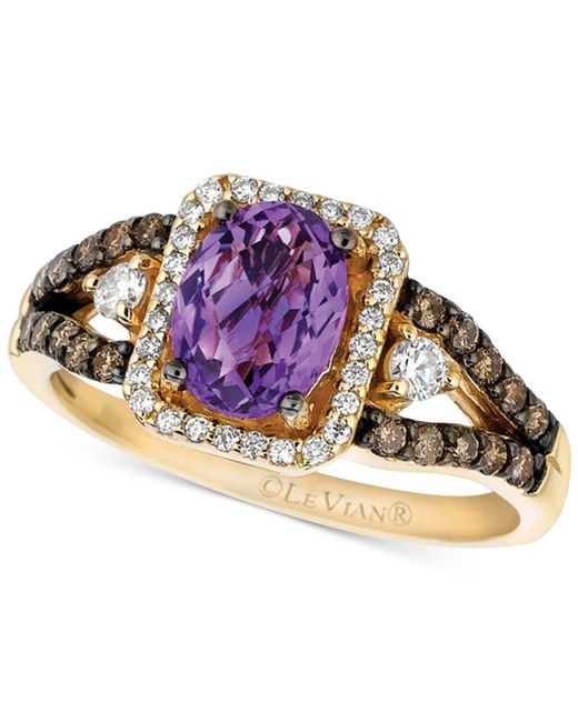 Le Vian - Metallic Amethyst (1 Ct. T.w.) And Diamond (1/2 Ct. T.w.) Ring In 14k Gold - Lyst