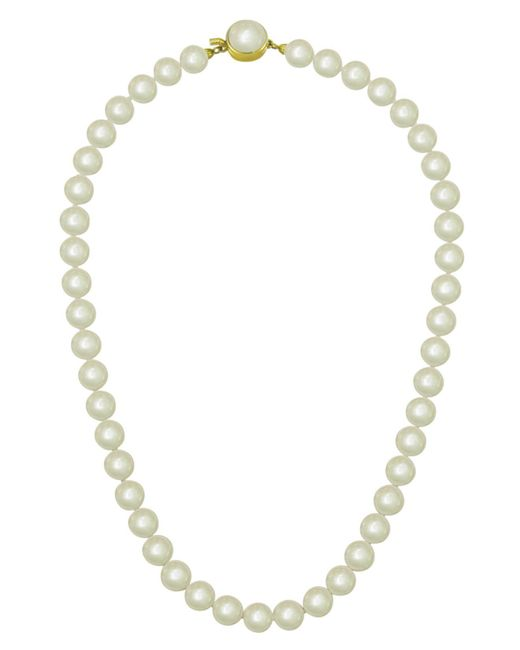 Majorica | Metallic 18k Gold Over Sterling Silver Necklace, Imitation Pearl | Lyst