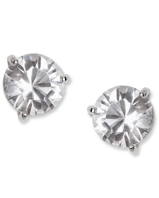 Swarovski - Metallic Earrings, Solitaire Crystal Stud - Lyst