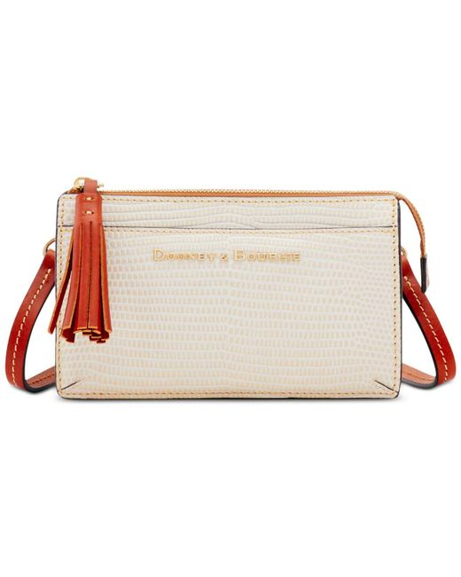 Dooney & Bourke - Multicolor Lizard Embossed Leather Gingy Crossbody - Lyst