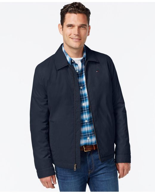 Tommy Hilfiger - Blue Full-zip Micro-twill Jacket for Men - Lyst